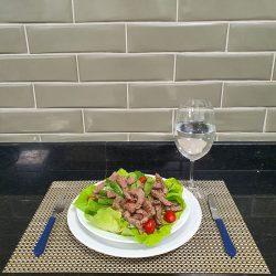 Salada de Rosbife com Azeite e Balsâmico